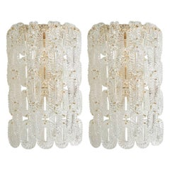 Pair of Murano Glass Link Sconces