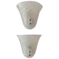 Pair of Murano Glass Mid-Century Modern Wall Sconces