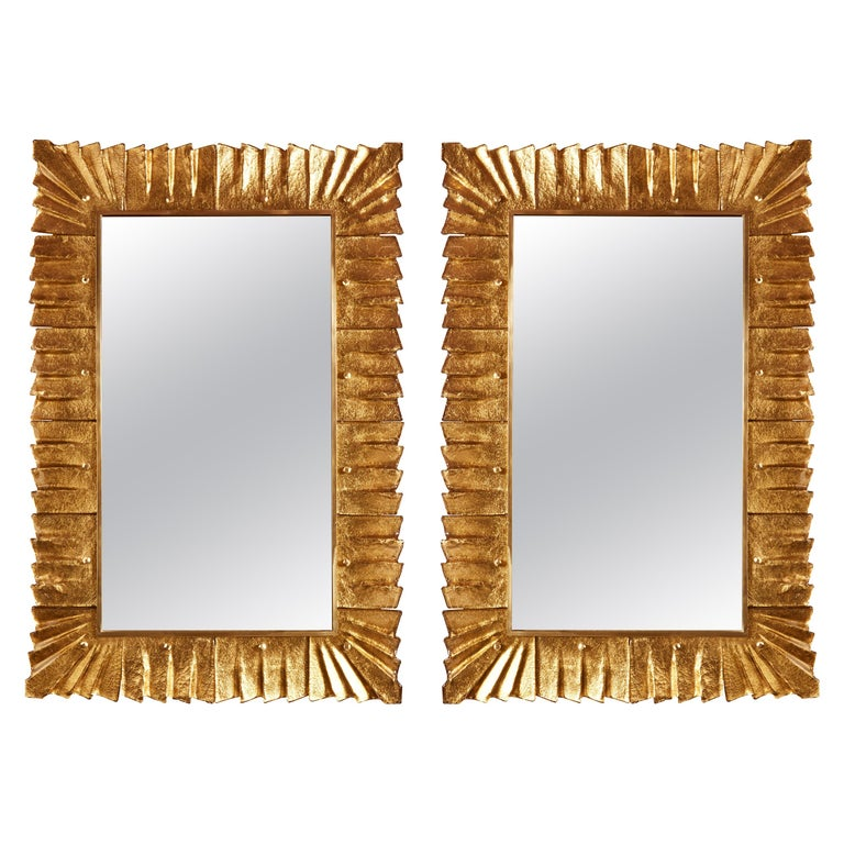 Pair Of Murano Glass Mirrors For Sale At 1stdibs