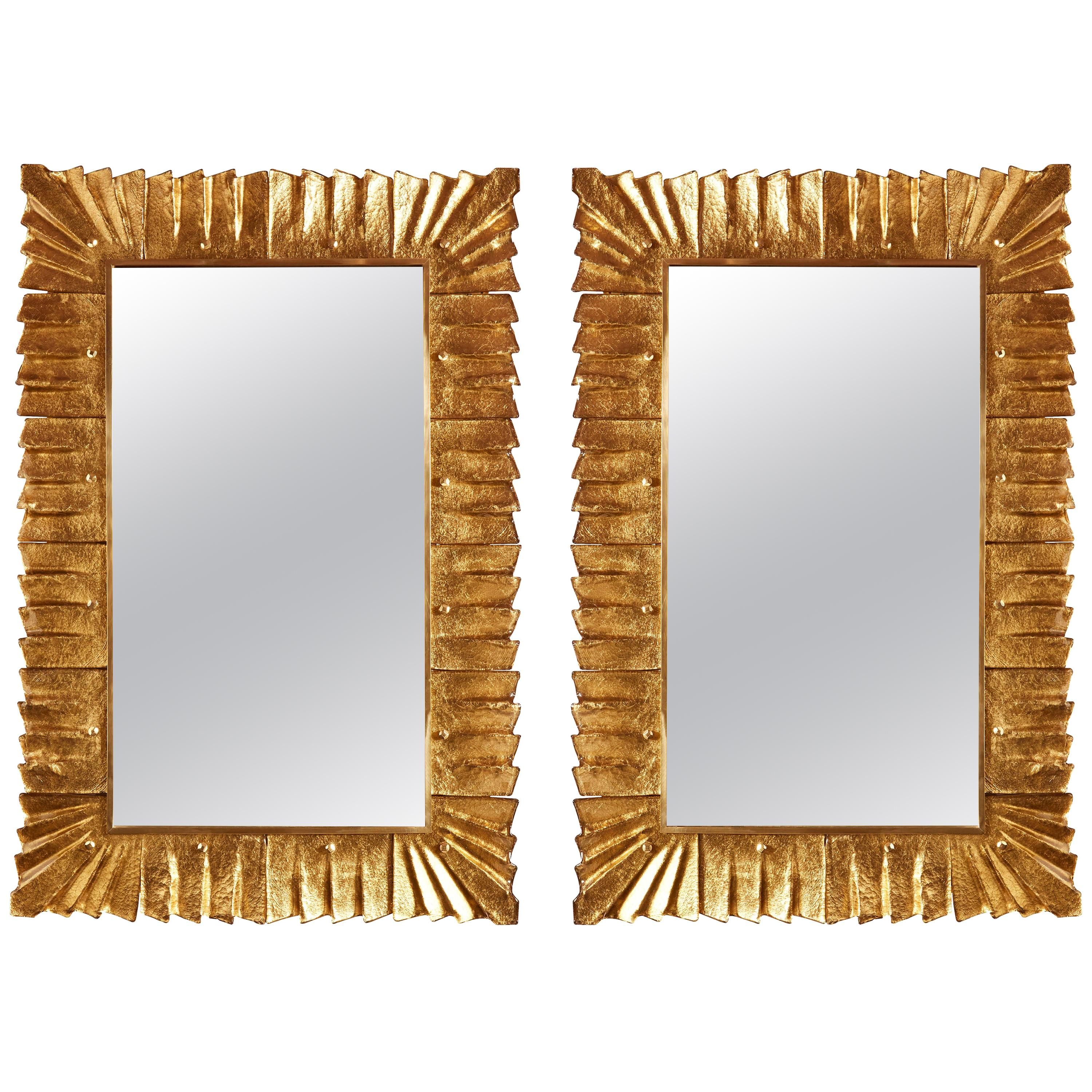 Pair of Murano Glass Mirrors