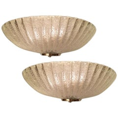 Pair of Murano Glass Moderne Sconces