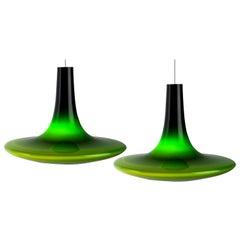Pair of Murano Glass Pendant Lights, 1960s