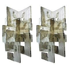 Pair of Murano Glass Sconces by Carlo Nason