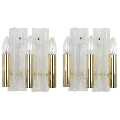 Pair of Murano Glass Sconces by Kalmar, Mod Lipizza, Austria, 1960s