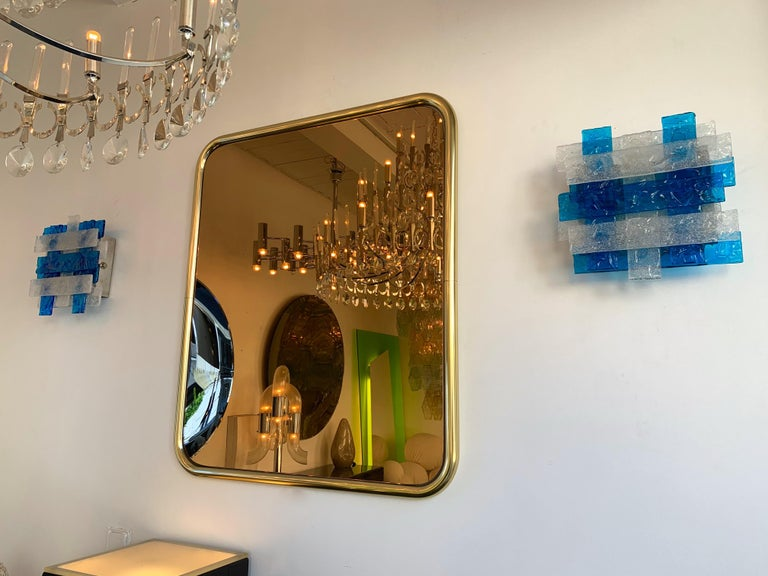 Mid-Century Modern Pair of Murano Glass Sconces by Mazzega, Italy, circa 1970s For Sale