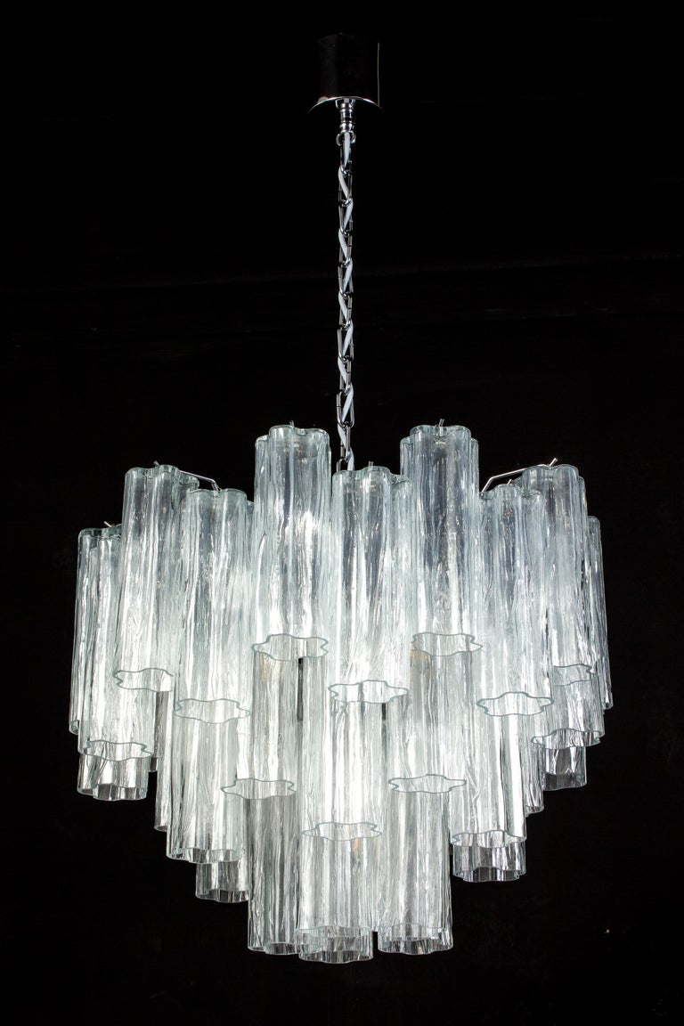 Pair of Murano Glass Tronchi Sconces, 1970s For Sale 11
