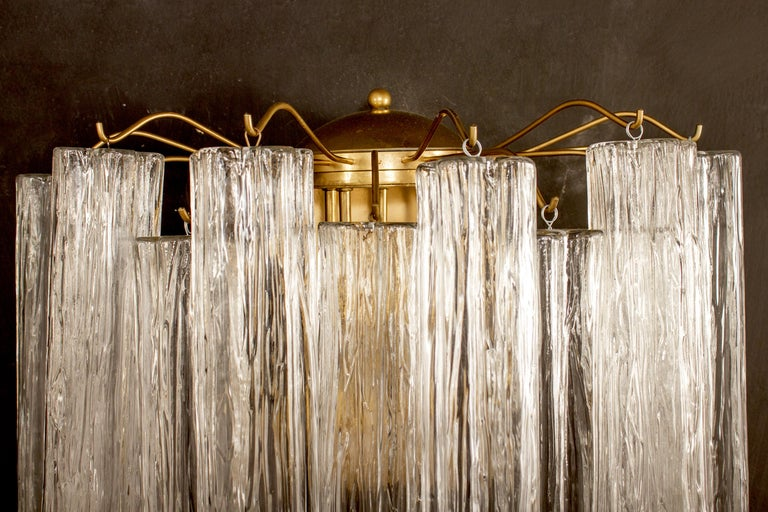 Pair of Murano Glass Tronchi Sconces, 1970s In Excellent Condition For Sale In Rome, IT