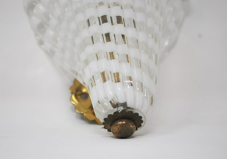Pair of Murano Glass Venini Sconces, 1950s In Good Condition For Sale In Brussels, BE