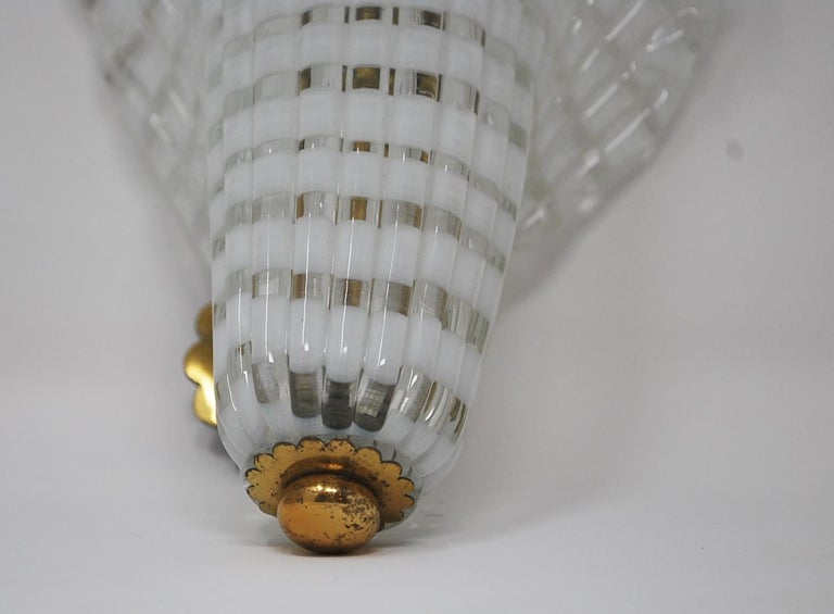 Pair of Murano Glass Venini Sconces, 1950s For Sale 2