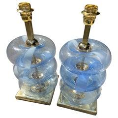 Pair of Murano Lamps - circa 1980