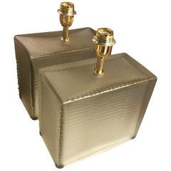 "Pair of Murano Lamps ""cubes"", 1990"