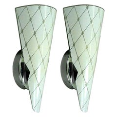 Pair of Murano Mid Century  Glass Sconces