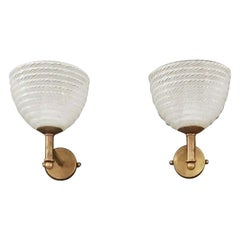 Pair of Murano Sconces by Barovier e Toso