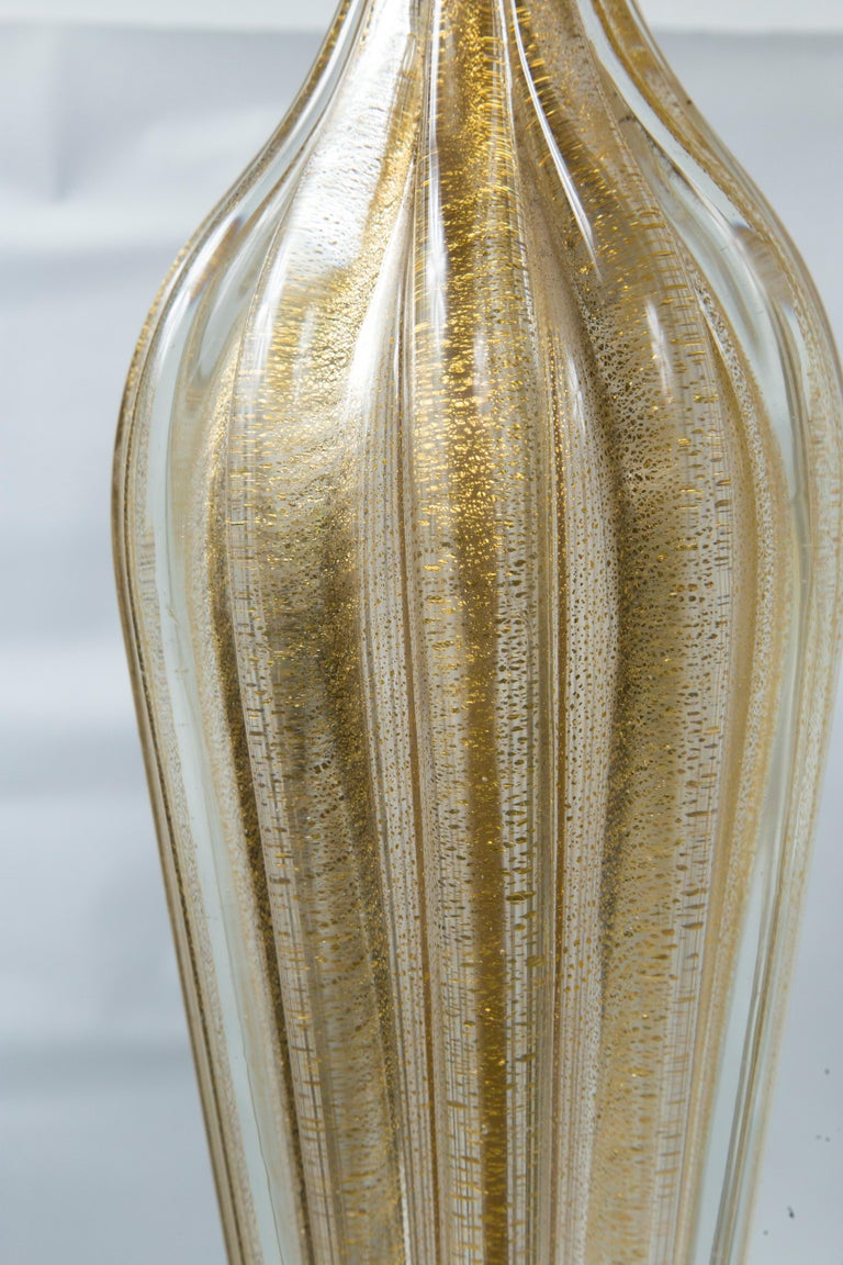 Pair of Murano Style Glass Table Lamps For Sale 4