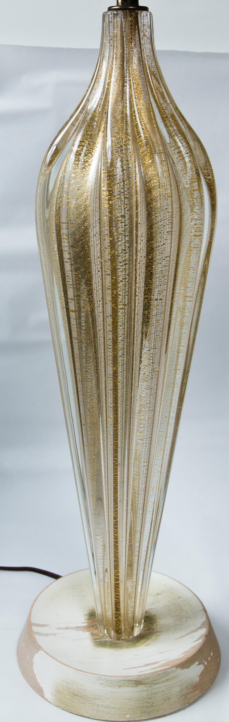 Pair of Murano Style Glass Table Lamps For Sale 1