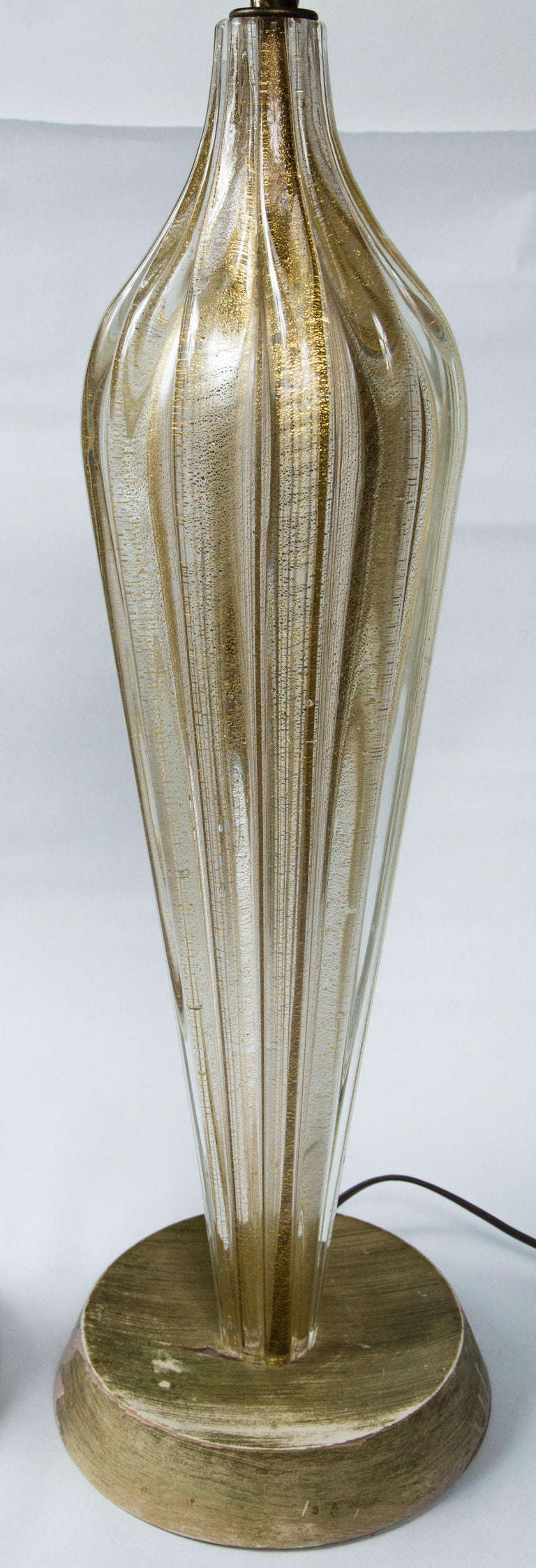 Pair of Murano Style Glass Table Lamps For Sale 2