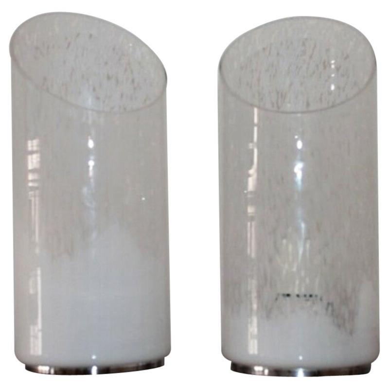 Pair of Murano table lamp 1970s by Gino Vistosi
