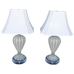 Pair of Murano Table Lamps, 1950s