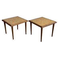 Pair of Murano Tile Side Tables