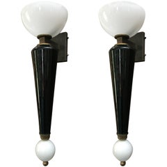 Pair of Murano Torchère Sconces