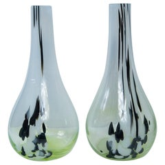 Pair of Murano Type Tall Neck Vases