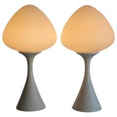 Pair of Mushroom Lamps by the Laurel Lamp Co.