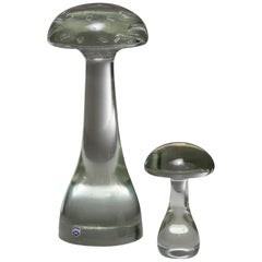 "Pair of ""Mushroom"" Sculptures by Cenedese"