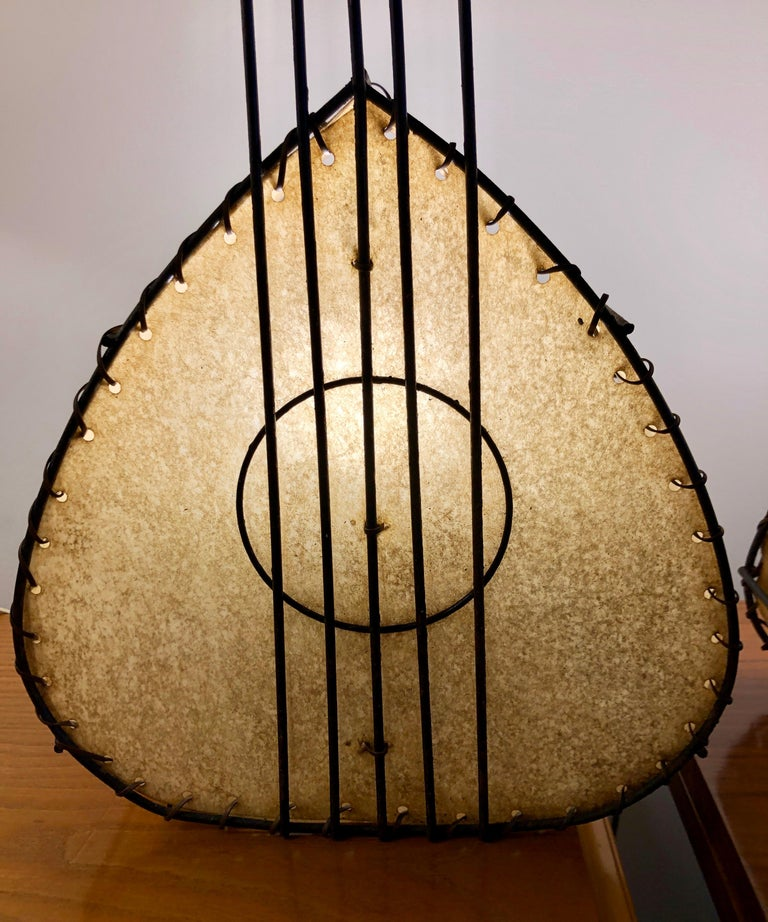 Pair of Musical Instrument Lamps by Frederick Weinberg For Sale 2