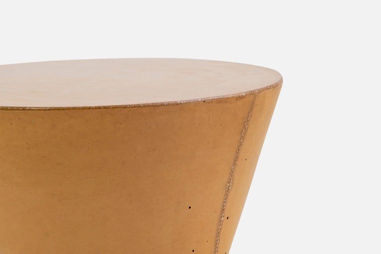 Pair of Mustard Kreten Side Tables from Souda, Made to Order For Sale 3