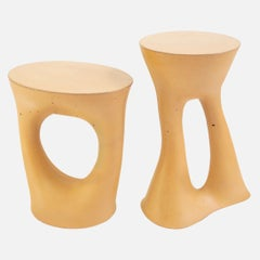 Pair of Mustard Kreten Side Tables from Souda, Made to Order