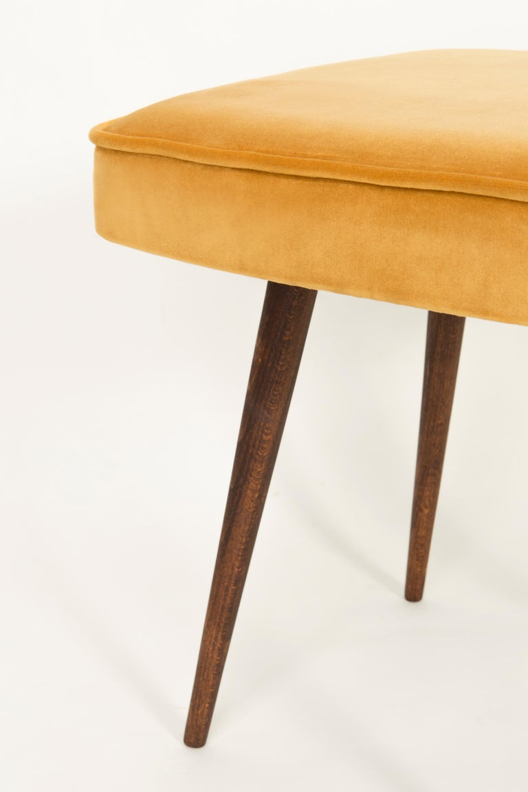 Polish Pair of Mustard Yellow Stools, 1960s For Sale
