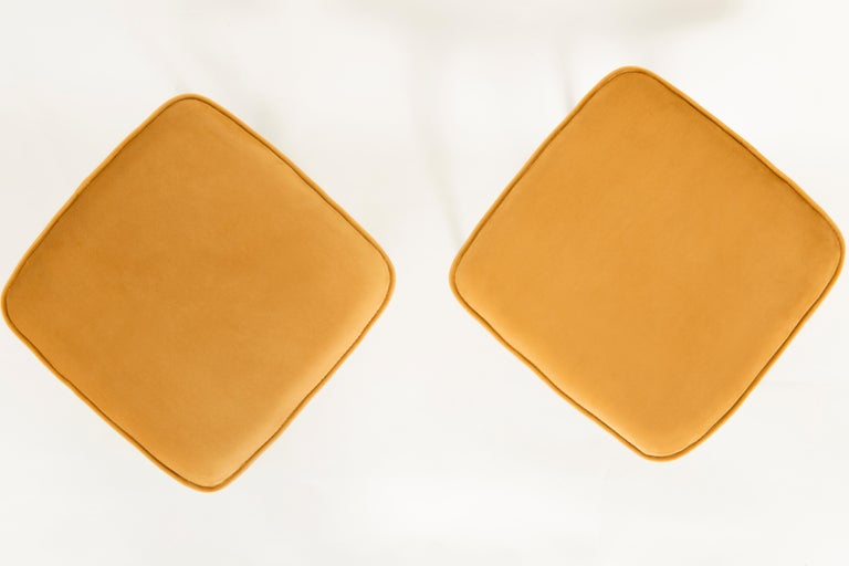 Pair of Mustard Yellow Stools, 1960s In Excellent Condition For Sale In 05-080 Hornowek, PL