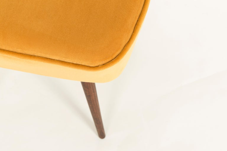 20th Century Pair of Mustard Yellow Stools, 1960s For Sale