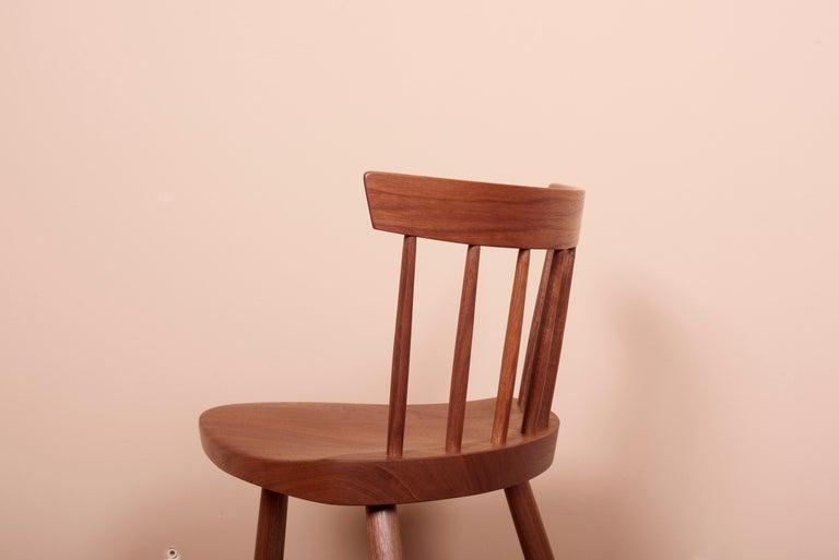 Pair of Nakashima Studio Mira Nakashima Mira Chair in Walnut, US 2021 For Sale 4