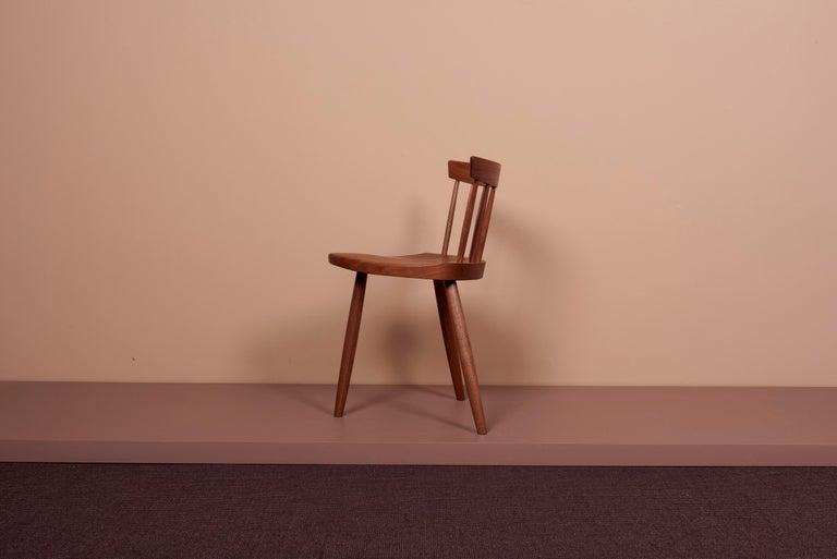 Pair of Nakashima Studio Mira Nakashima Mira Chair in Walnut, US 2021 For Sale 5