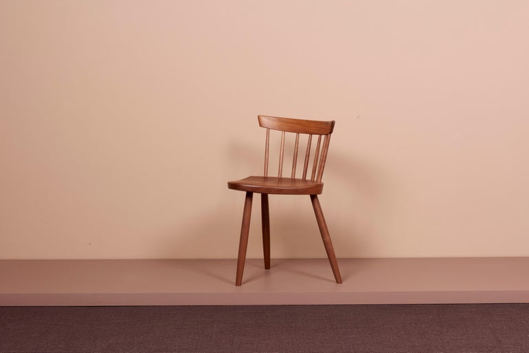Mid-Century Modern Pair of Nakashima Studio Mira Nakashima Mira Chair in Walnut, US 2021 For Sale