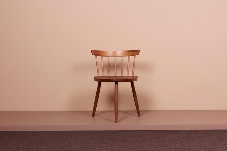American Pair of Nakashima Studio Mira Nakashima Mira Chair in Walnut, US 2021 For Sale