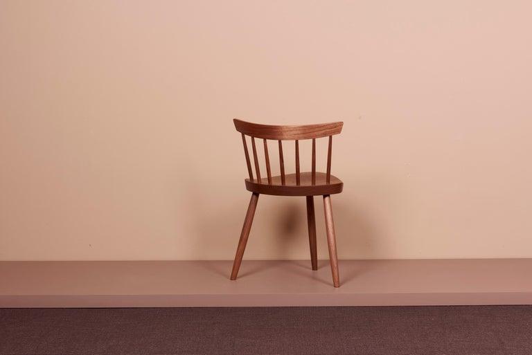 Contemporary Pair of Nakashima Studio Mira Nakashima Mira Chair in Walnut, US 2021 For Sale