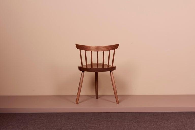 Wood Pair of Nakashima Studio Mira Nakashima Mira Chair in Walnut, US 2021 For Sale