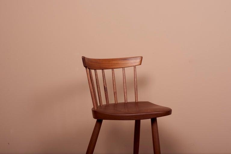 Pair of Nakashima Studio Mira Nakashima Mira Chair in Walnut, US 2021 For Sale 1