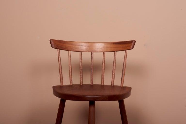 Pair of Nakashima Studio Mira Nakashima Mira Chair in Walnut, US 2021 For Sale 2