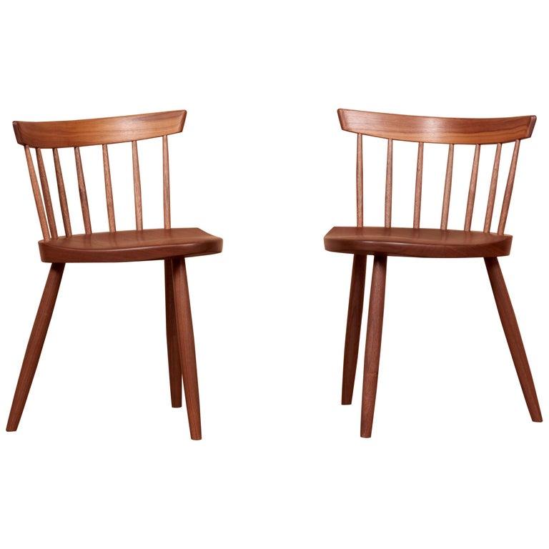 Pair of Nakashima Studio Mira Nakashima Mira Chair in Walnut, US 2021 For Sale