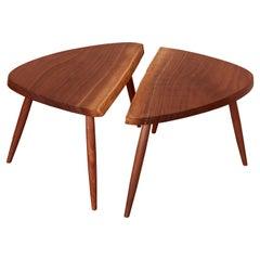 Pair of Nakashima Studio Mira Nakashima Wepman Side Tables in Walnut, US 2021