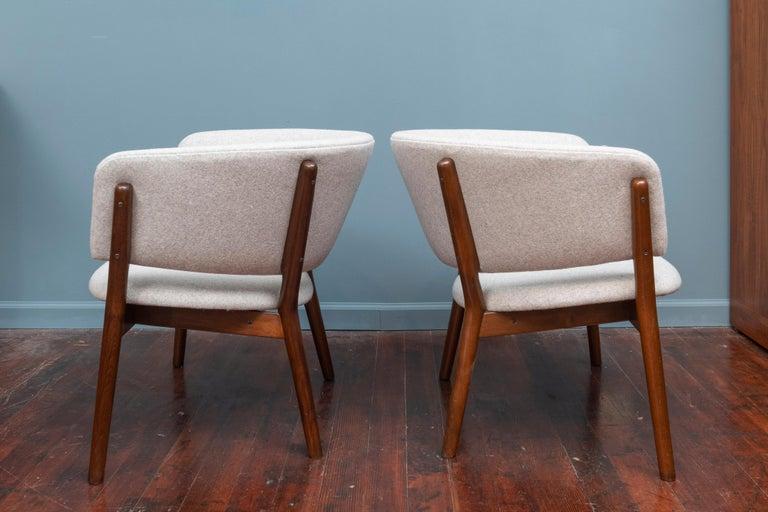 Scandinavian Modern Pair of Nanna Ditzel Lounge Chairs