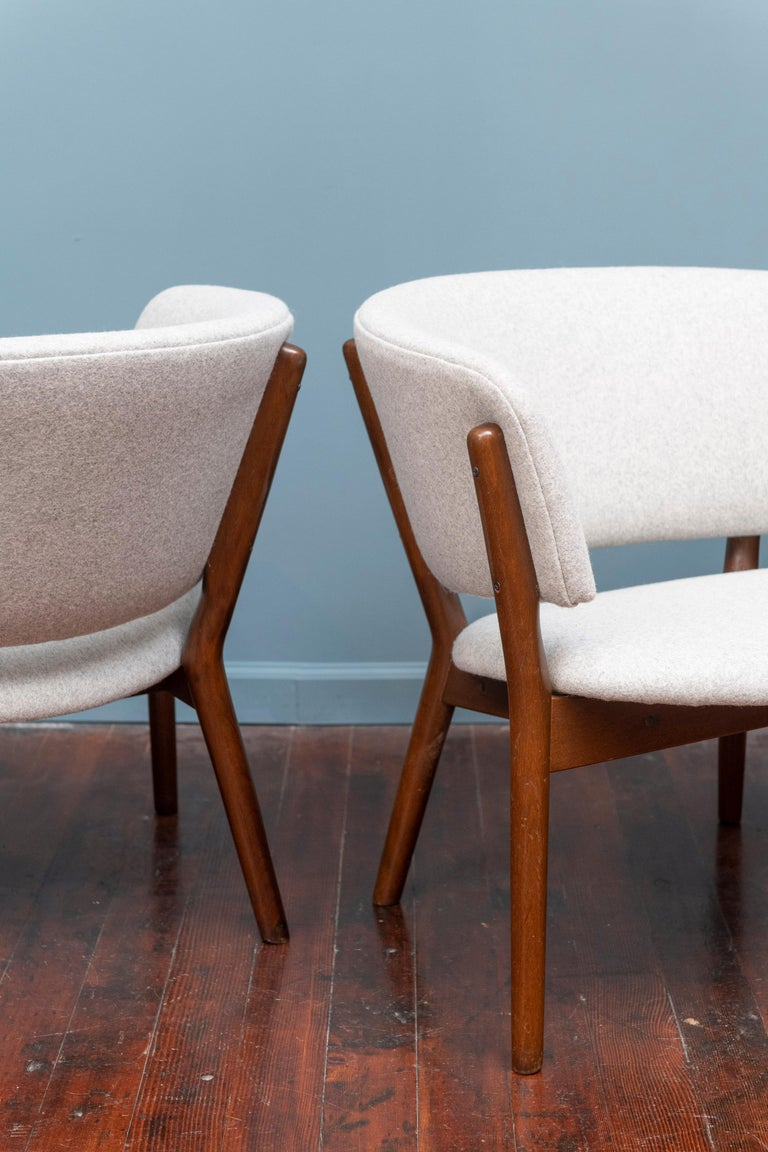 Pair of Nanna Ditzel Lounge Chairs In Good Condition In San Francisco, CA