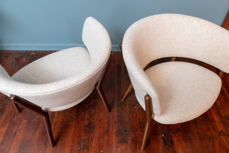 Upholstery Pair of Nanna Ditzel Lounge Chairs
