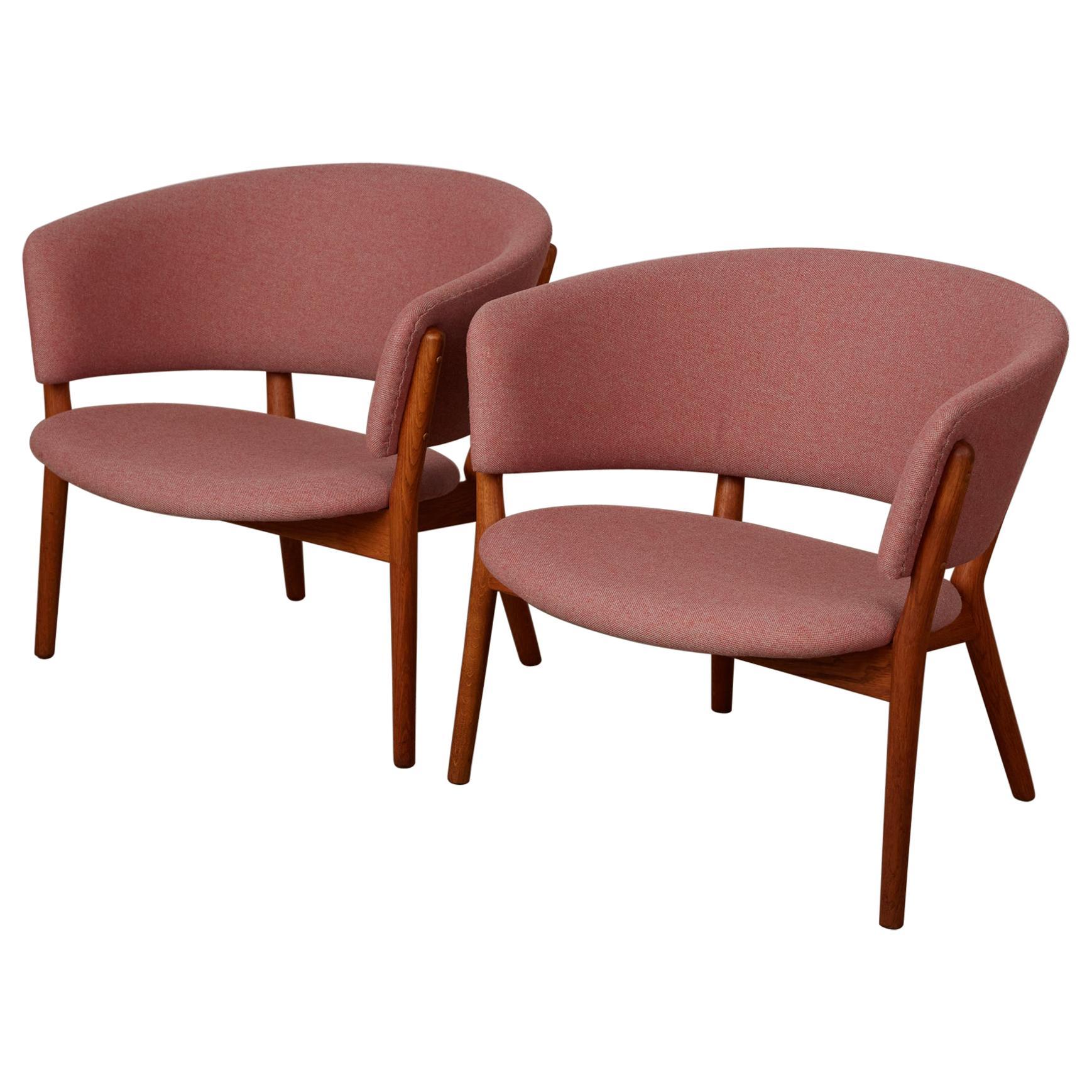 Pair of Nanna Ditzel ND83 Lounge Chairs for Søren Willadsen
