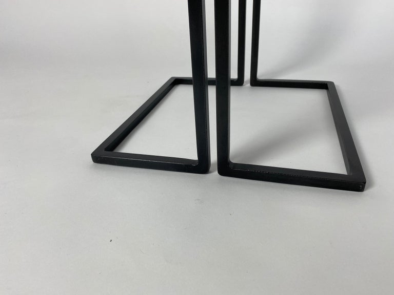 Pair of Nantes Side Tables, by Bourgeois Boheme Atelier 'Model A' For Sale 6