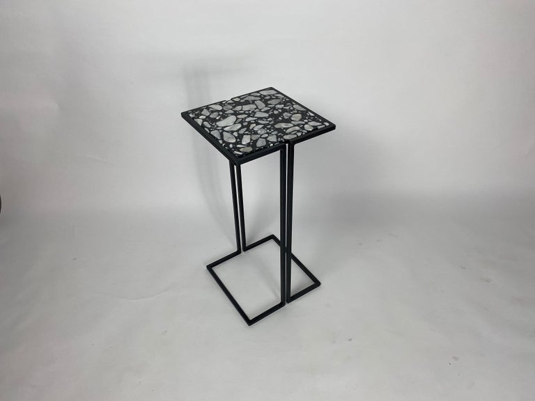Modern Pair of Nantes Side Tables, by Bourgeois Boheme Atelier 'Model A' For Sale