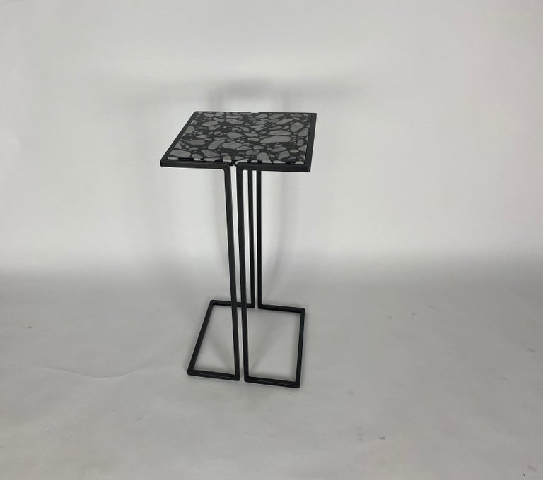 American Pair of Nantes Side Tables, by Bourgeois Boheme Atelier 'Model A' For Sale